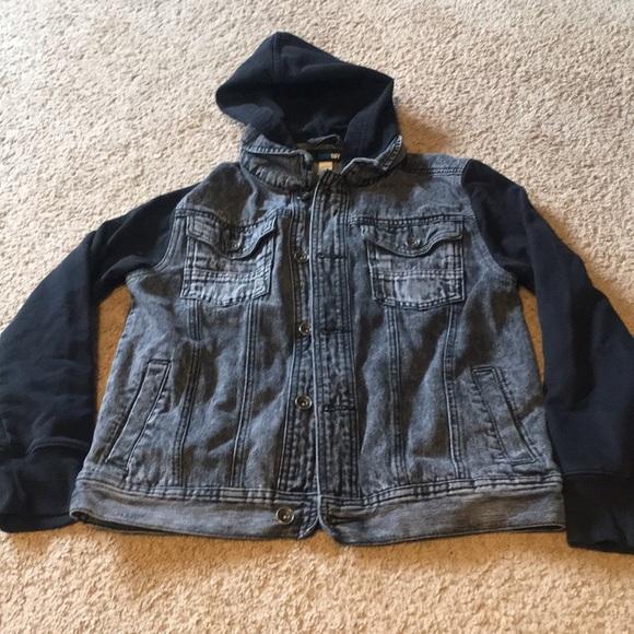 Amplify Jackets Coats Boys Large Black Denim Jacket Poshmark